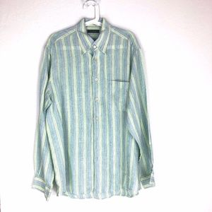 Ermenegildo Zegna 100% Linen Button-Up Shirt Large